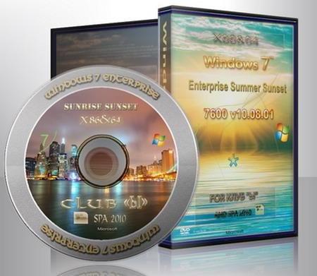 Windows 7 Enterprise X86&x64 Summer Sunset Multiload v.10.08.01