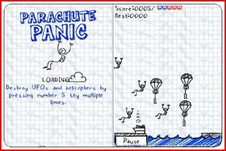 Parachute Panic+Touch Screen/Stylus / Паника на парашюте